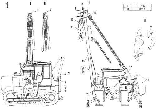 Кран-трубоукладчик - общий вид
