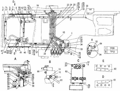 Гидросистема трубоукладчика ТР20 и ТР12