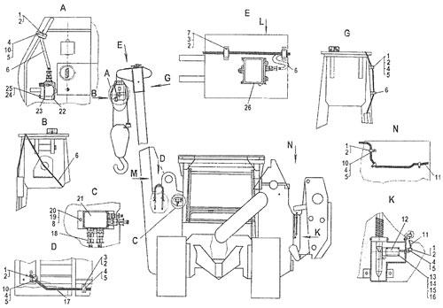 Установка автомата защиты крана АЗК-110