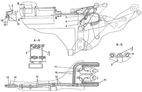 Гидросистема противовеса ТР20 и ТР12