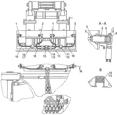 Гидросистема управления лебедкой ТР20 и ТР12