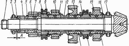 Нижний вал КПП Т-170, Т-130