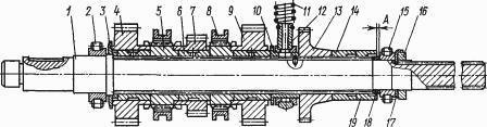 Верхний вал коробки передач Т-170, Т-130